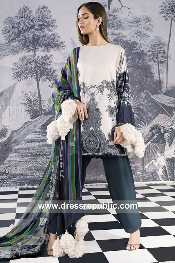 DRP7917 Sana Safinaz Winter Collection 2018 Bombay, New Delhi, Calcutta, India