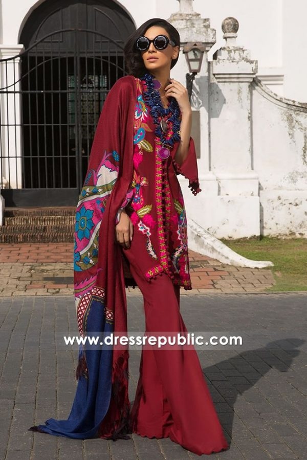 DRP7965 Sana Safinaz Winter 2018 Collection Online USA, Canada, UK, Australia