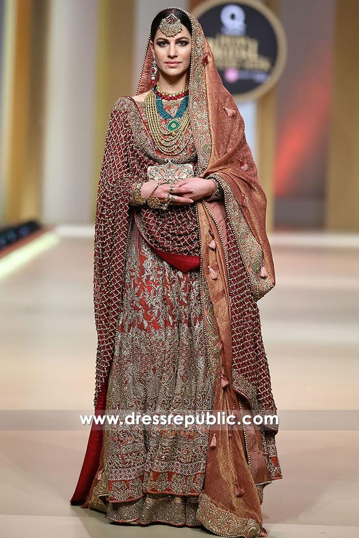 DR15198 HSY London Buy Pakistani Designer Bridal Dresses 2018 Collection