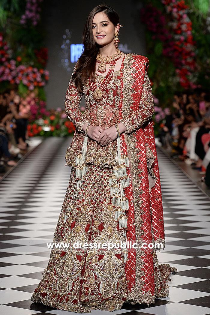 DR15219 Pakistani Designer Dresses for Winter 2018 Wedding UK