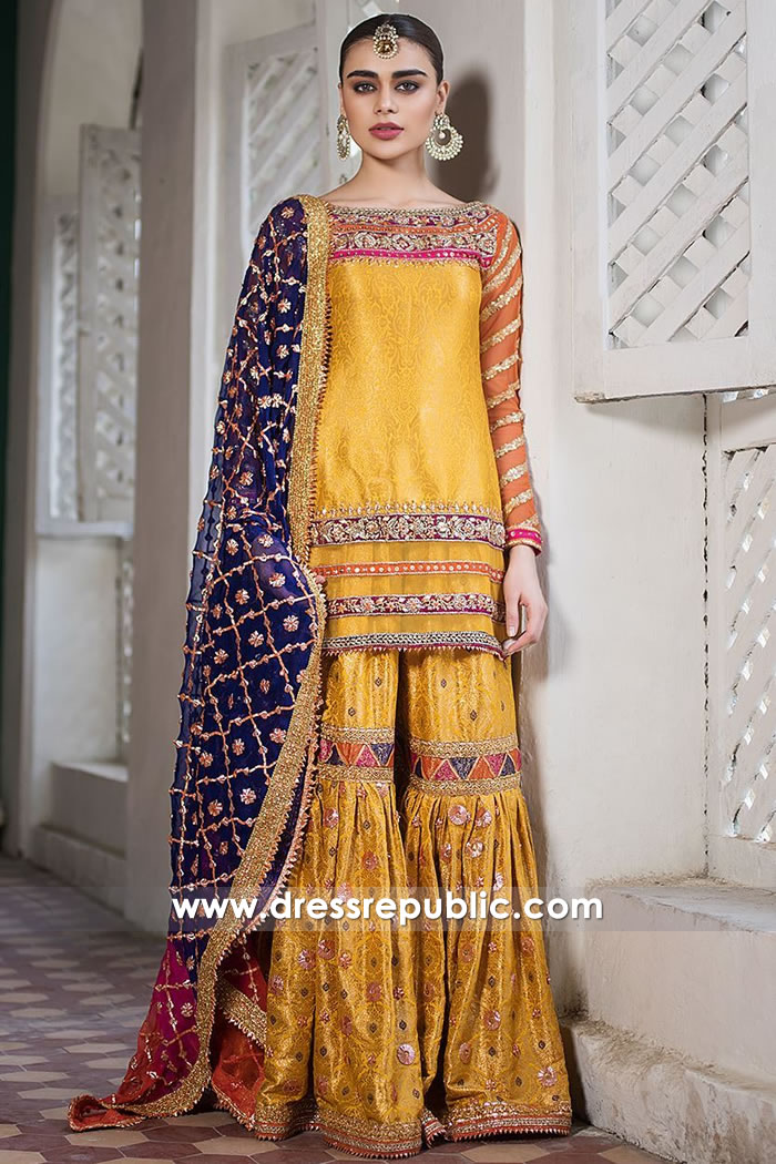 DR15227 Zainab Chottani Gharara 2019 UK, USA, Canada, Australia Online Shop