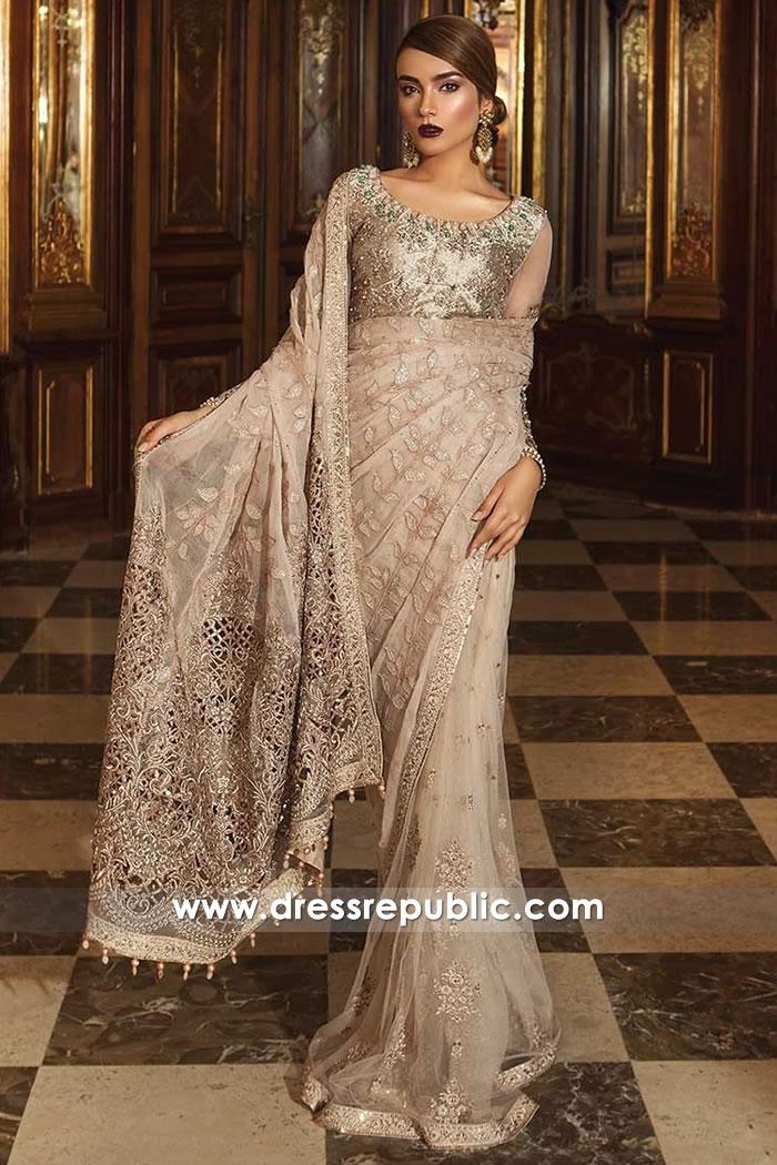 DRP8120 Maria B Wedding Saree 2018 UK, USA, Canada, Australia, Thailand