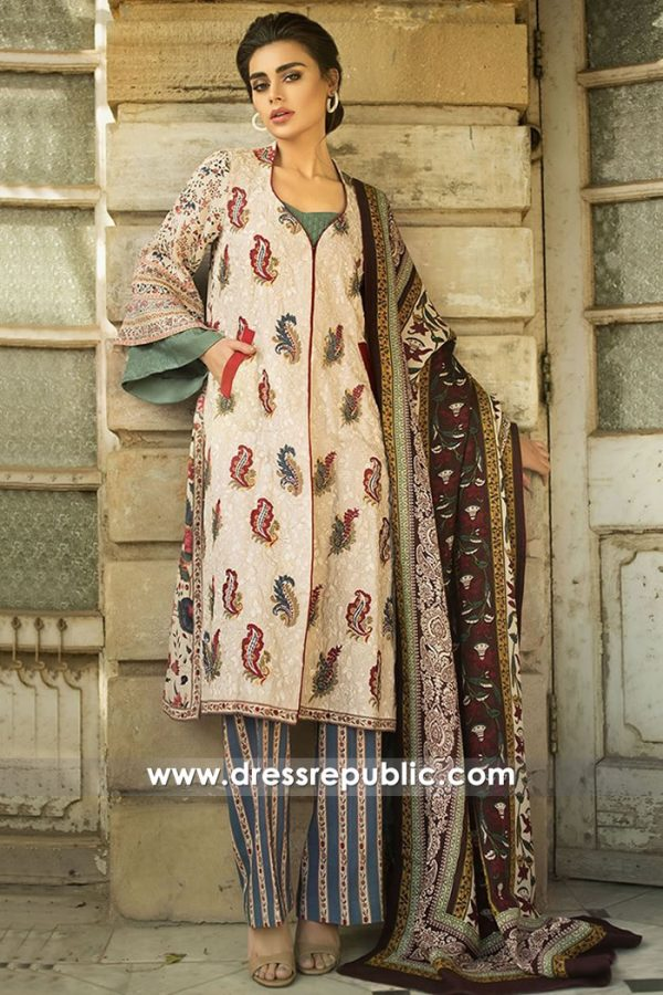 DRP8149 Pakistani Lawn Suits For Winter London, Manchester, Birmingham, UK