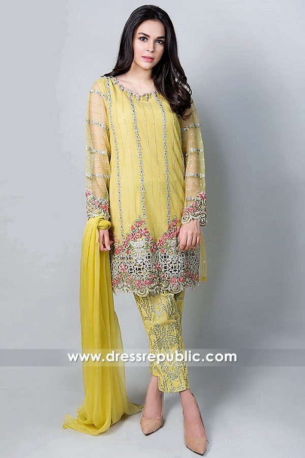 DR15293 Pakistani Mehndi Dresses 2019 USA New York, New Jersey, California
