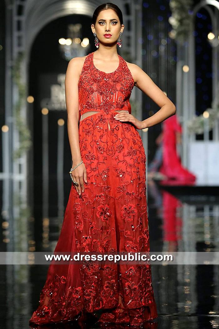 DR15324 Designer Celebrity Gown in Red Rouge Color Buy in Beverly Hills, CA