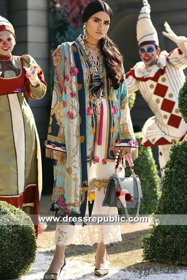 DRP8257 Zaha Lawn 2019 Designer Pakistani Lawn Shalwar Kameez Suits Online