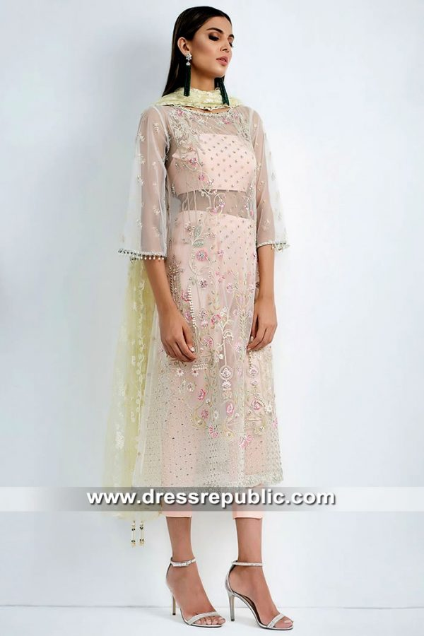DR15416 Eid 2019 Pink Party Wear Dress Buy in Liverpool, York, Leeds