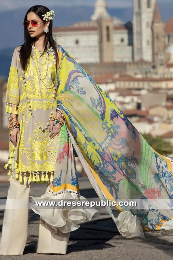 DRP8451 Pakistani Designer Lawn Suits 2019 in Europe by Sana Safinaz