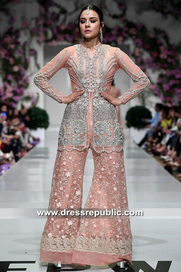 DR15467 Pakistani Designer Wedding Guest & Occasion Wear Dresses 2019