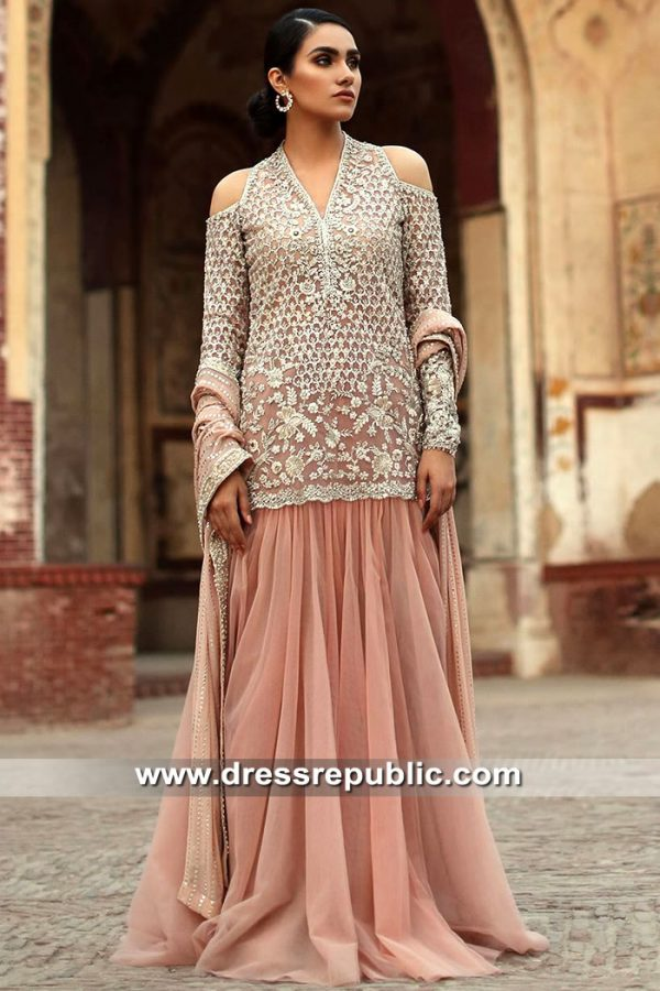 DR15534 Pakistani Designer Shops in Manchester, UK Buy Dresses Online
