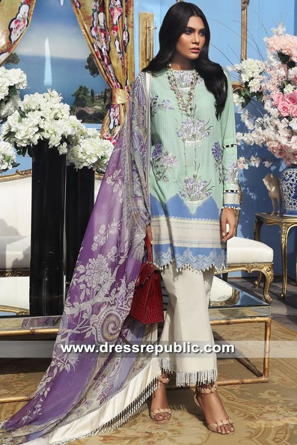 DRP8676 Stitched Pakistani Lawn Suits in USA, Canada, Australia, UK, Europe
