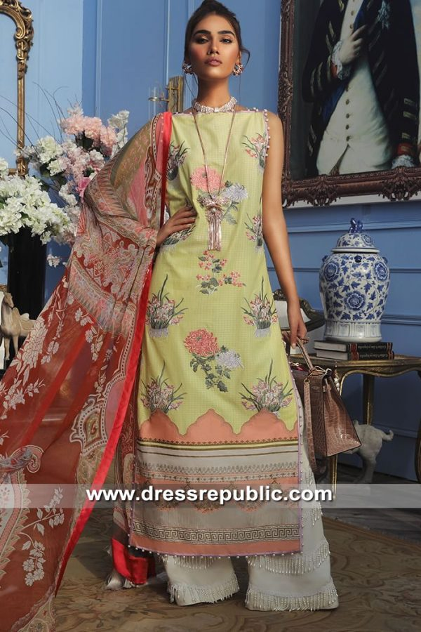 DRP8677 Stitched Pakistani Lawn Suits in London, Manchester, Birmingham, UK