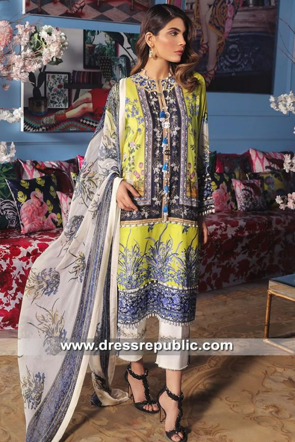 DRP8680 Stitched Pakistani Lawn Suits Los Angeles, Chicago, Columbus, Detroit