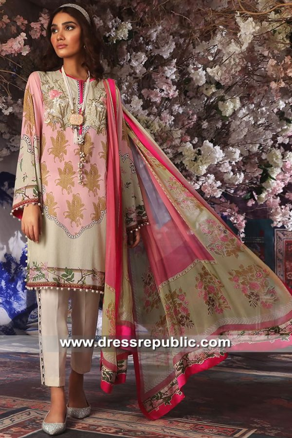 DRP8685 Stitched Pakistani Lawn Suits France, Germany, Switzerland, Belgium