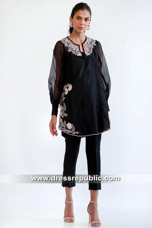 DR15563 Pakistani Street Style Dresses 2019 Sweden, Denmark, Austria