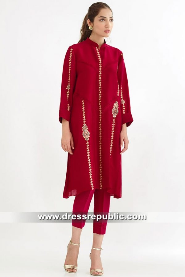 DR15569 Pakistani Street Style Dresses 2019 Southall, Wembley, Green Street
