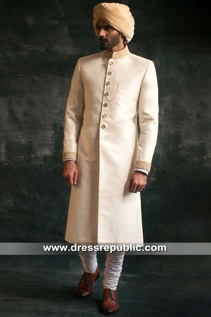 DRM5307 Groom Sherwani for Wedding Buy Online in Singapore, Thailand, Malaysia