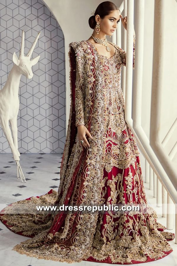 DR15621 Heavy Pakistani Designer Bridal Dresses for Wedding, Nikkah, Baraat