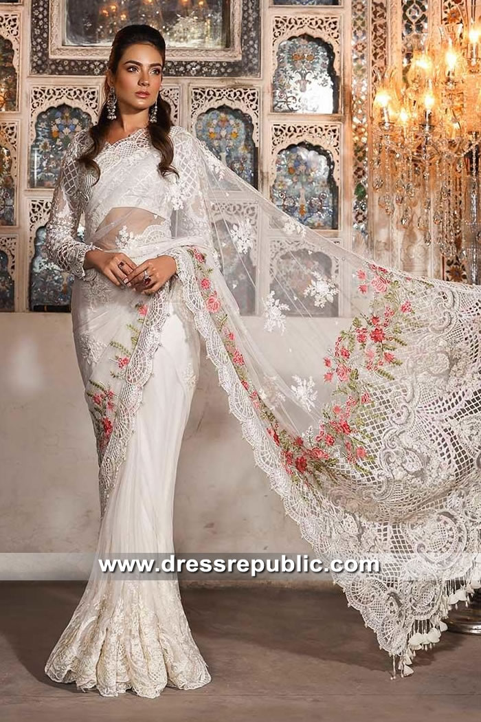 DRP9042 Maria B Mbroidered Festive Eid 2019 Saree Collection Buy in Canada