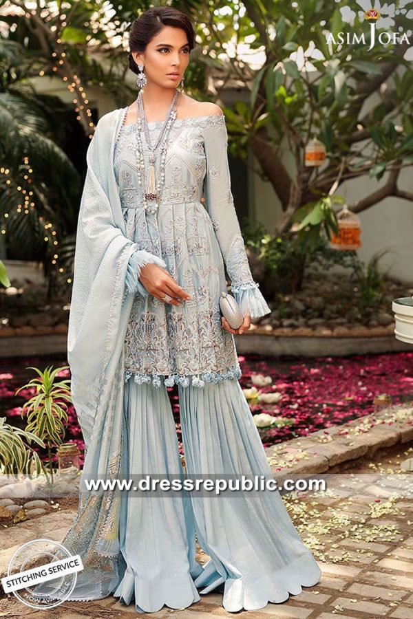 DRP9060 Asim Jofa Festive 2019 Eid Collection USA, Canada, UK, Europe, Australia