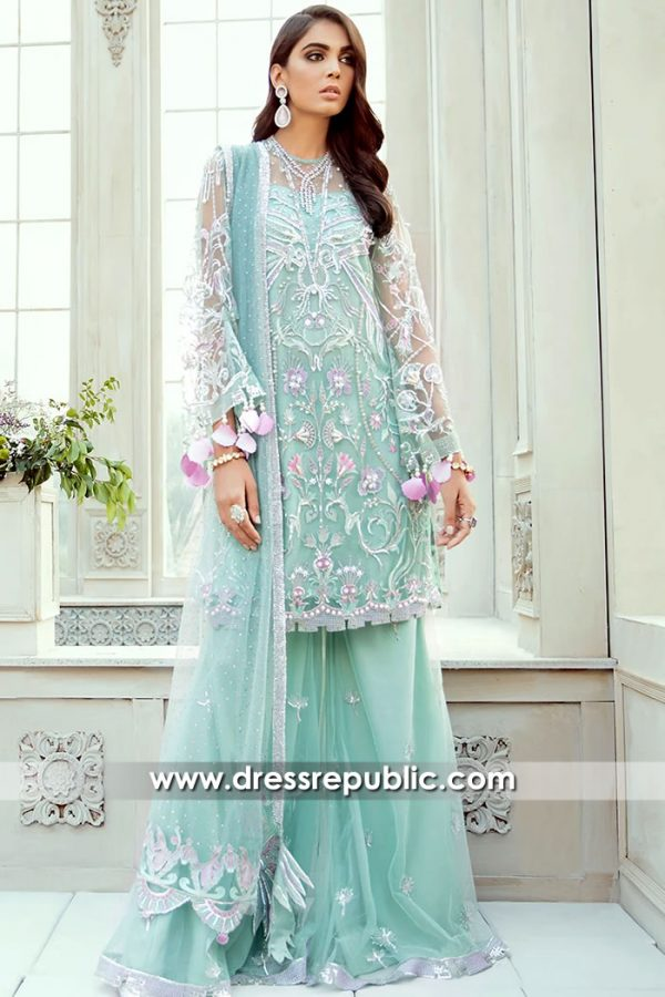 DR15709 Pakistani Wedding Guest Sharara 2020 Collection USA Buy Online