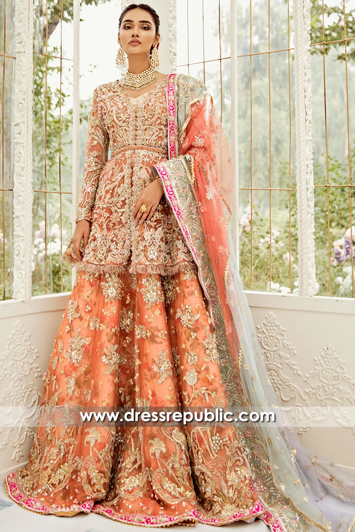 DR15712 Pakistani Bridal Lehenga 2020 Collection UK, USA, Canada, Australia