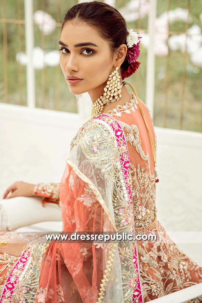 DR15712b Pakistani Bridal Lehenga 2020 Collection UK, USA, Canada, Australia