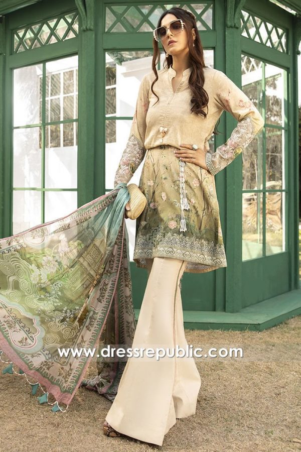 DRP1400 Maria B Mprints Summer 20 Stitched Price Online UK, USA, Canada