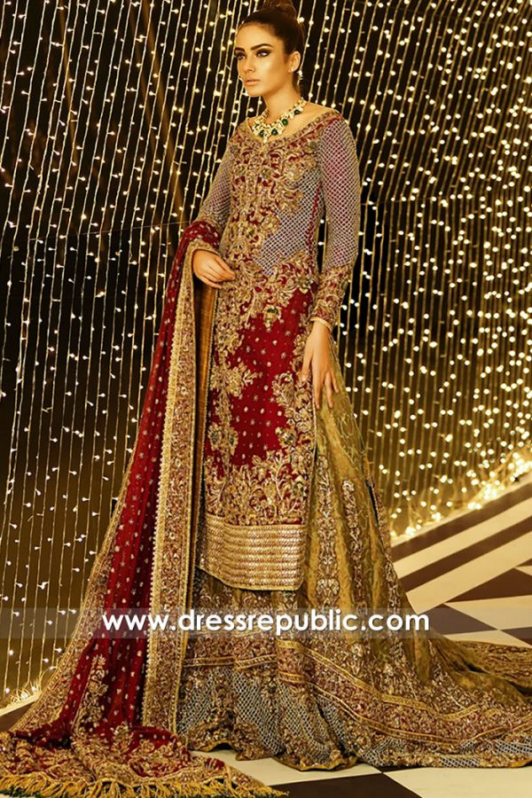 DR15909 Pakistani Bridal Lehenga AW20 Collcetion New York, New Jersey, USA