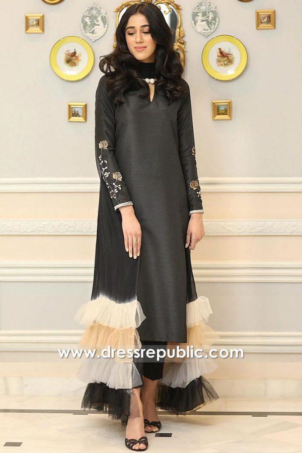 DR15916 Designer Pakistani Party Dresses 2020 Winter Collection New York