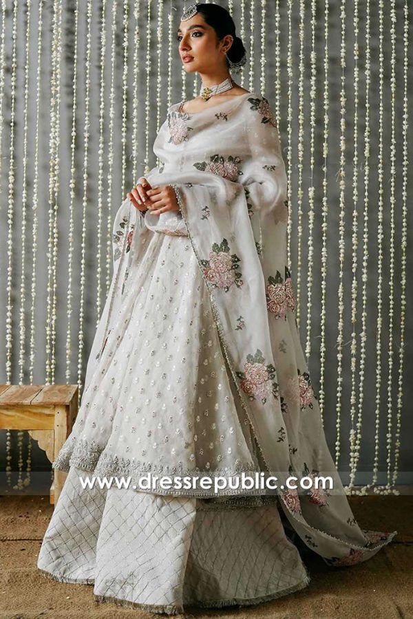 DR15924 Online Shop for Anarkali Lehenga Dupatta Shawl For Special Occasion