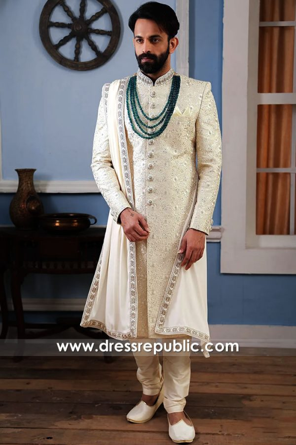 DRM5505 Groom Sherwani 2020 Collection Buy in Edison, Elizabeth, New Jersey