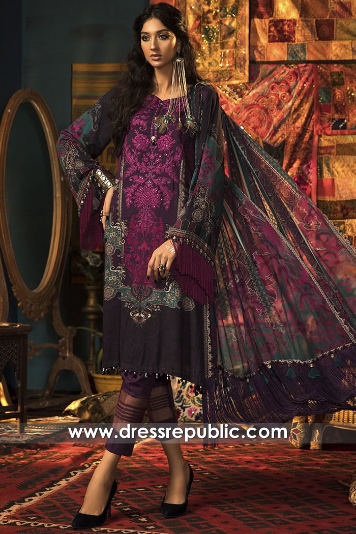 DRP1838 Maria B Mprints FW20 Wholesale Price With Stitching Solution Pakistan