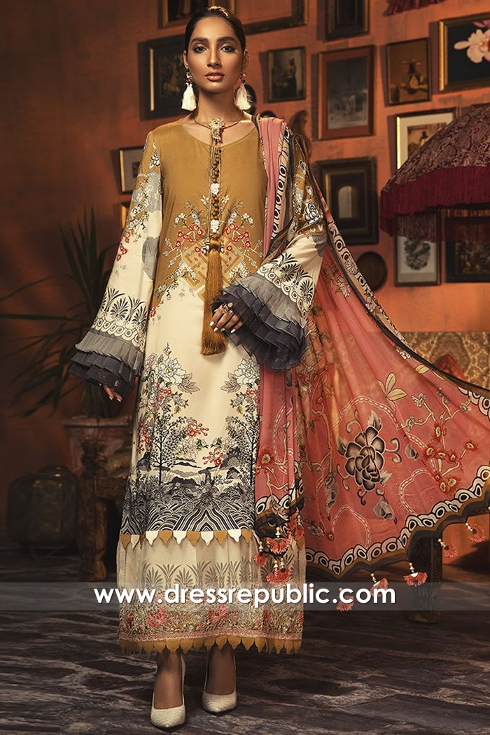 DRP1842 Maria B Lawn Suits Wholesale With Stitching London, Manchester, UK